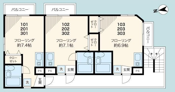 TCRE東十条 間取り図